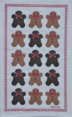 Tea Towel Gingerbread Men